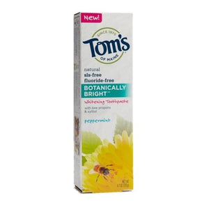 Tom's Of Maine Botanically Bright Whitening Toothpaste Peppermint 100 mL