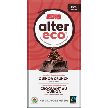 Alter Eco Dark Organic Chocolate Quinoa Crunch