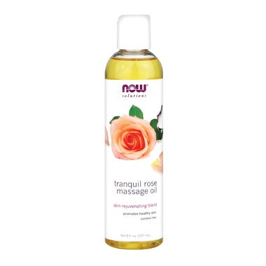 NOW Solutions Tranquil Rose Massage Oil  237 mL