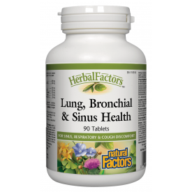 Natural Factors HerbalFactors® Lung Bronchial & Sinus Health 90 Tablets