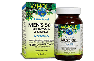Whole Earth & Sea Pure Food Men's 50+ Multivitamin & Mineral