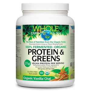 Whole Earth & Sea Protein & Greens Organic Vanilla Chai 656g