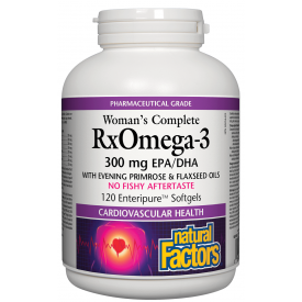 Natural Factors Women's Complete RxOmega-3 300mg 120 Softgels