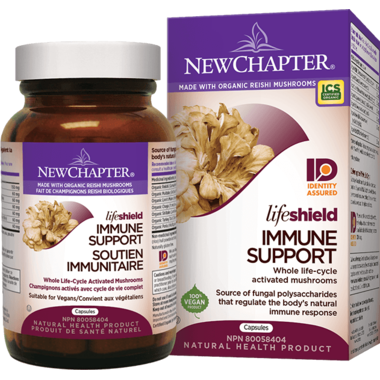 New Chapter LifeShield Immune Support Whole Life-Cycle Activated Mushroom