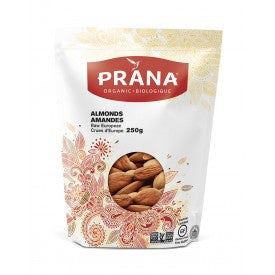 Prana Organic Almonds Raw European 250g