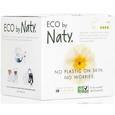 Eco by Naty Sanitary Pads Super, 13 pcs