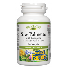 Natural Factors HerbalFactors® Saw Palmetto with Lycopene