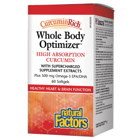 Natural Factors CurcuminRich Whole Body Optimizer High Absorption Curcumin
