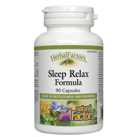 Natural Factors HerbalFactors® Sleep Relax Formula 90 Capsules