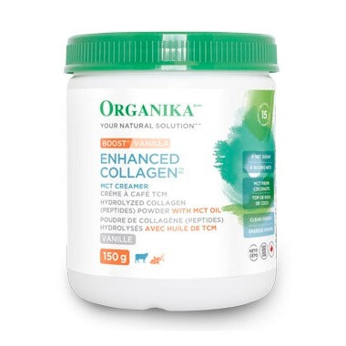 Organika Boost Enhanced Collagen MCT Creamer Vanilla  150 g