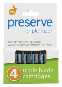 Preserve Razor Blade Replacement Triple Blade - 4 Cartridges