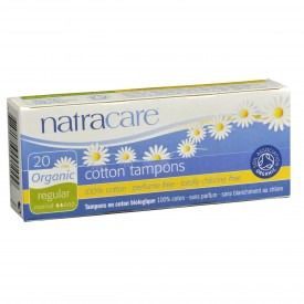 NatraCare Organic & Natural Cotton Tampons Regular 20 Tampons