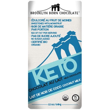 Brooklyn Born Chocolate Coconut Milk Keto Chocolate 60g