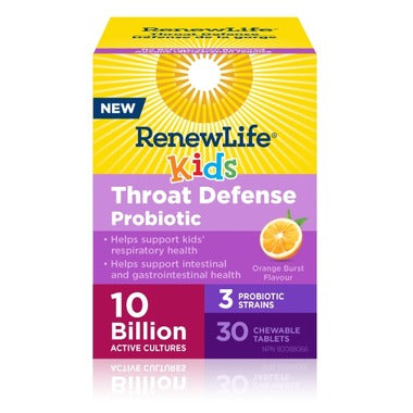 Renew Life Throat Defense Probiotic  30 chewable tablets