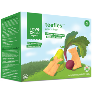 Love Child Organics Teefies Wafers Pear and Beet