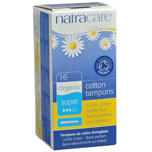Natracare Organic Tampons with Applicator, 16 super