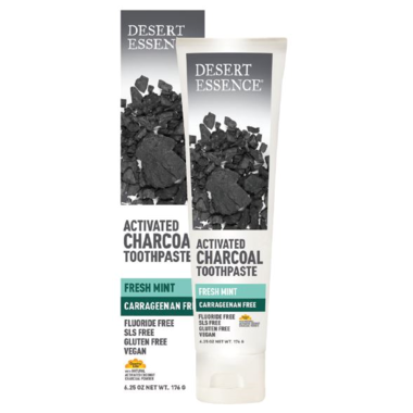 Desert Essence Activated Charcoal Toothpaste Fresh Mint 176g
