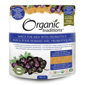Organic Traditions Maca for Men with Probiotics 200g