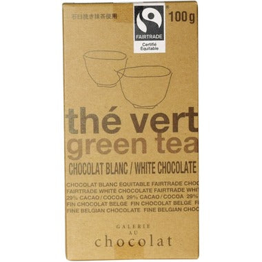 Galerie au Chocolat Green Tea White Chocolate Bar 100g