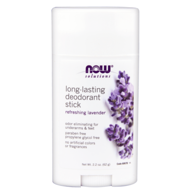 NOW Solutions Long-Lasting Deodorant Stick  Lavender