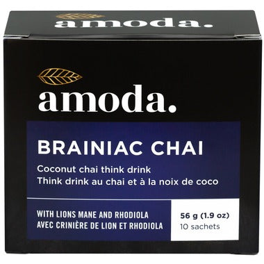Amoda Brainiac Chai Coconut Chai Think Drink