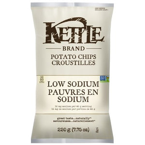 Kettle Low Sodium Potato Chips 220g