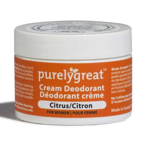 Purelygreat Cream Deodorant for Women Citrus