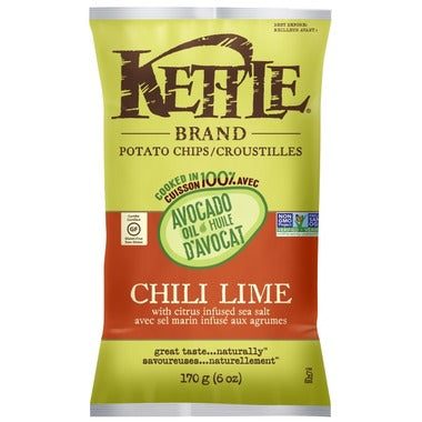 Kettle Avocado Oil Chili Lime Potato Chips  170g
