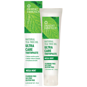 Desert Essence Ultra Care Toothpaste with Natural Tea Tree Oil Mega Mint 176g