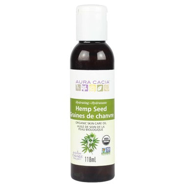Aura Cacia Organic Hemp Seed Skin Care Oil  118 mL