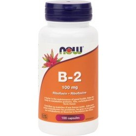 NOW Vitamin B-2 100mg 100 Capsules