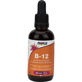 NOW Vitamin B-12 Fast Acting B Complex Liquid 60mL