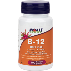 NOW Vitamin B-12 1000mg 100 Chewable Lozenges
