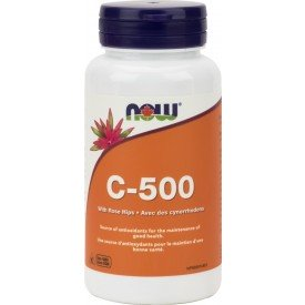 NOW Vitamin C-500 with Rose Hips 250 Tablets