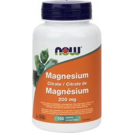 NOW Magnesium Citrate 200mg 100 Tablets