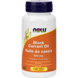 NOW Black Currant Oil 500mg 100 Softgels