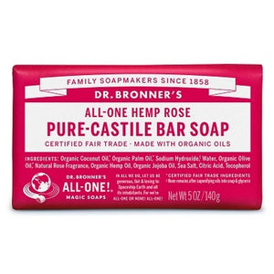 Dr. Bronner's Pure Castile Bar Soap Rose