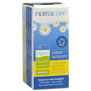 Natracare Organic Tampons with Applicator, 16 regular