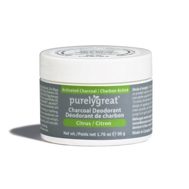 Purelygreat Charcoal Cream Deodorant Citrus