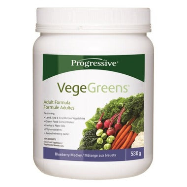 Progressive VegeGreens Green Food Supplement Blueberry Medley