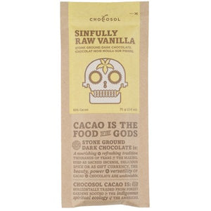 ChocoSol Sinfully Raw Vanilla Stone Ground Dark Chocolate