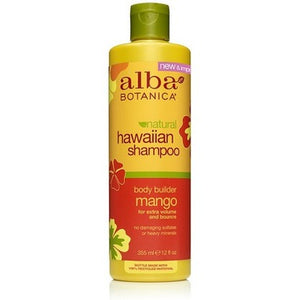 Alba Botanica Natural Hawaiian Shampoo, body builder mango