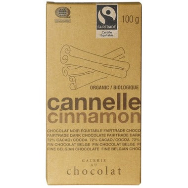Galerie au Chocolat Cinnamon Chocolate Bar 100g