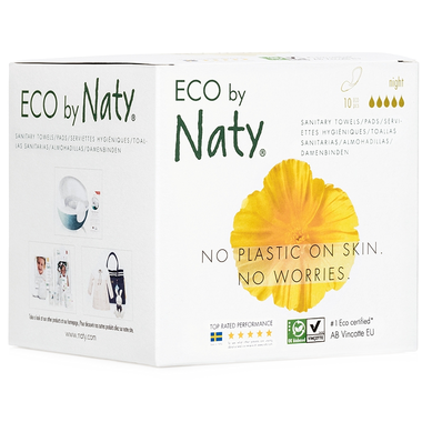 Eco by Naty Sanitary Pads Night, 10 pcs