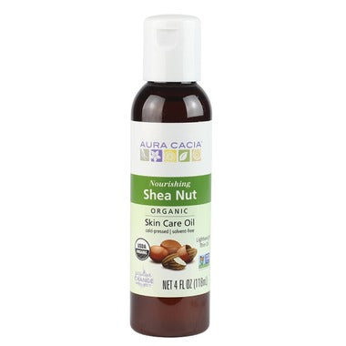 Aura Cacia Organic Shea Nut Skin Care Oil 118 mL