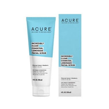 Acure Clear Charcoal Facial Scrub 118 mL