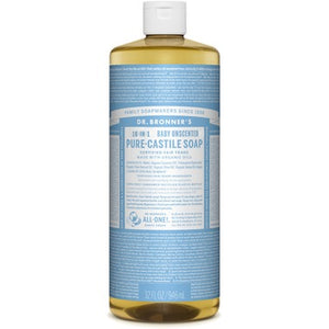 Dr. Bronner's Organic Pure Castile Liquid Soap, Baby Unscented