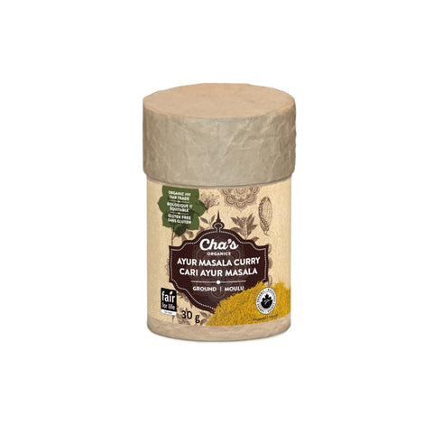 CHA'S ORGANIC Ayur Masala Curry Powder, 30 g