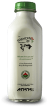 Harmony Organic Skim Milk One Litre Glass Bottle