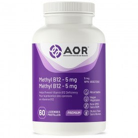AOR Methyl B12 – 5 mg 60 Lozenges